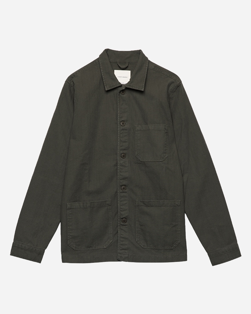 1-adaysmarch-overshirt-herringbone-army-aw2