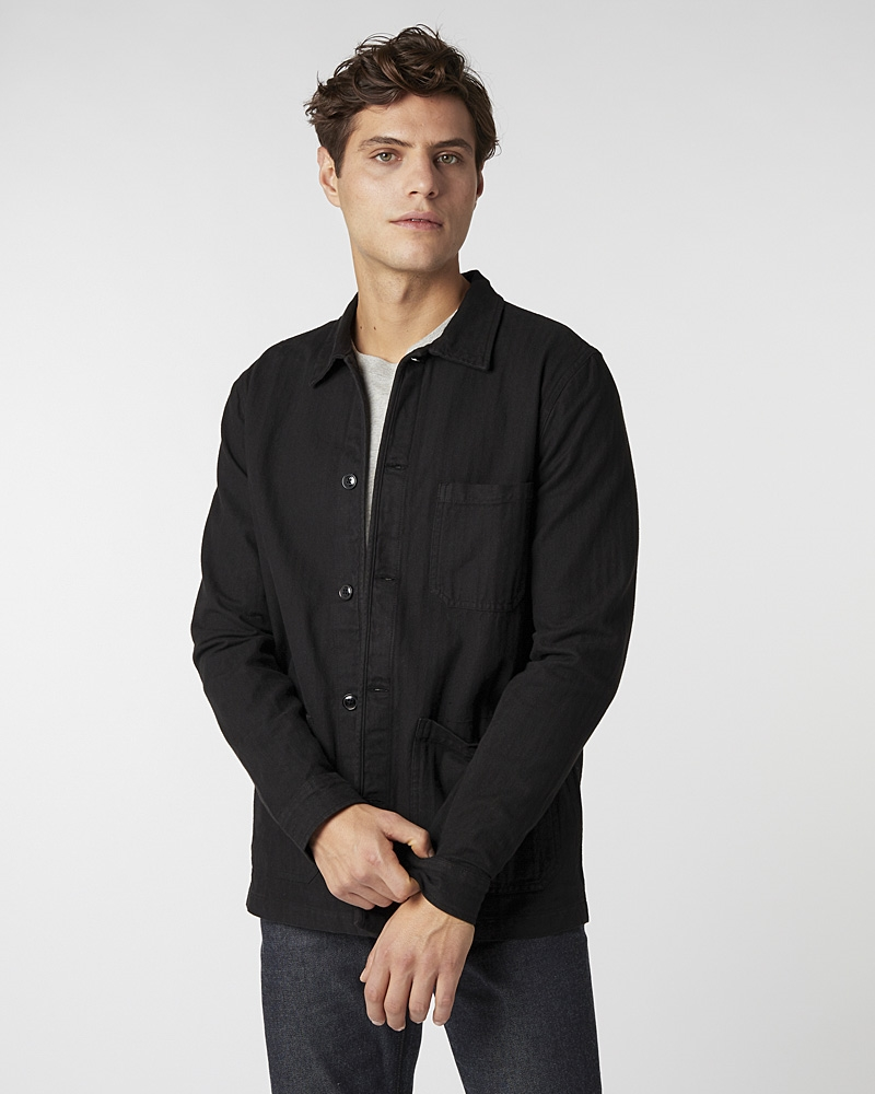 original-overshirt-herringbone-black5371-1