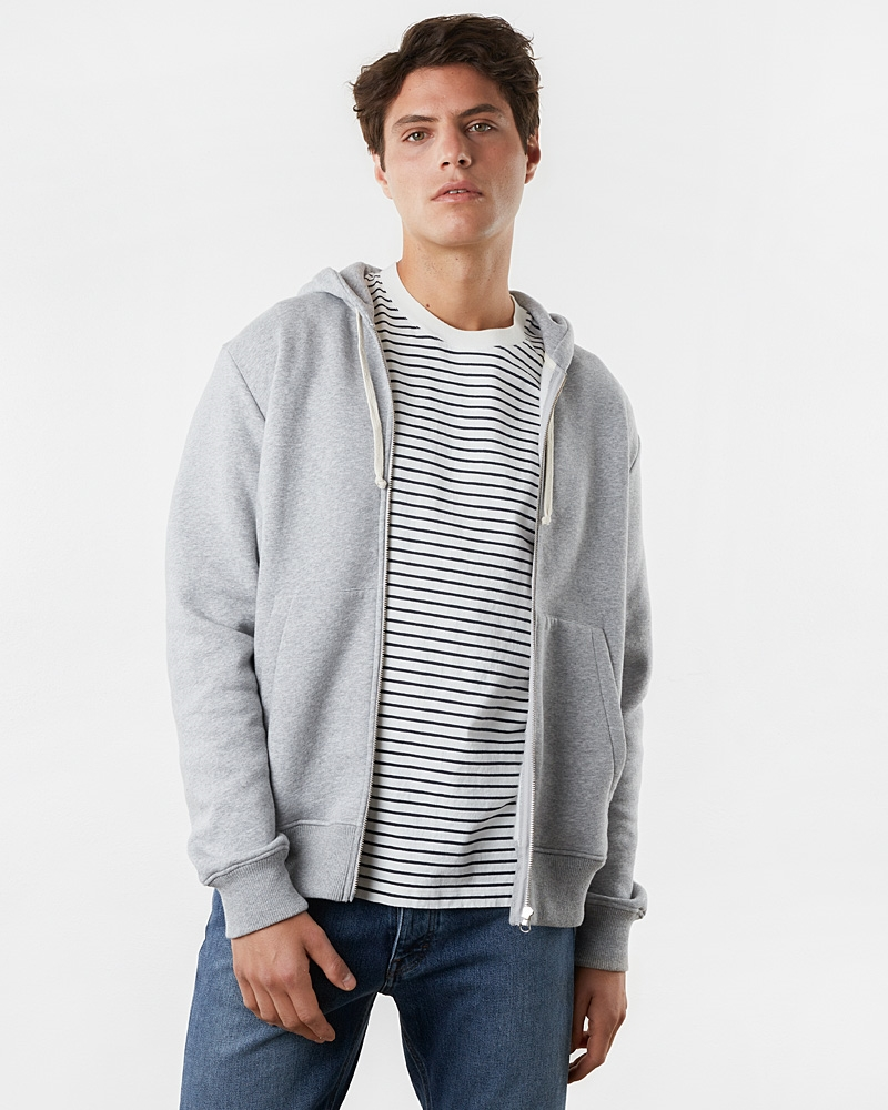 zip-hoodie-grey-melange+classic-fit-tee-striped-white-navy18927-1