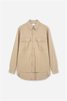Atkins Drapy Viscose Wool Shirt