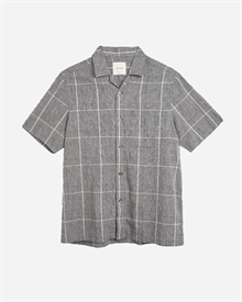 Camp-Collar Linen Shirt