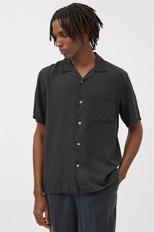 Camp-Collar Tencel Shirt