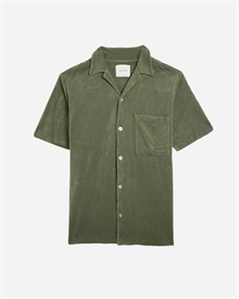 Camp-Collar Terry Shirt