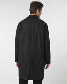 Dogtooth Wool Coat