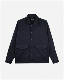 Shoulder Patch Jacket - Wool Twill