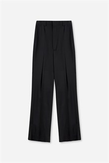 Harris Pleated Viscose Wool Trouser