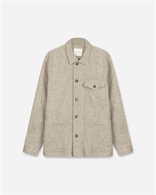Patch Pocket Overshirt - Wool Herringbone