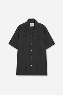 short-sleeve-camp-collar-tencel-shirt-off-black-packshot