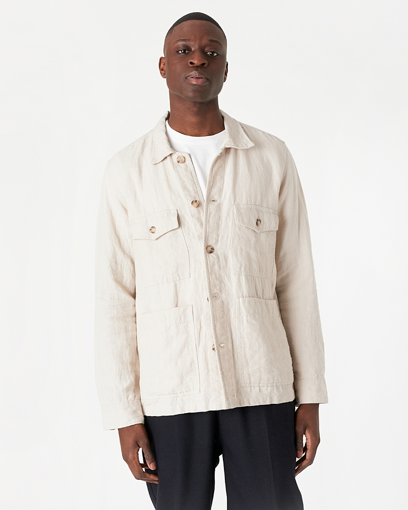 Patch Pocket Overshirt - Heavy Linen