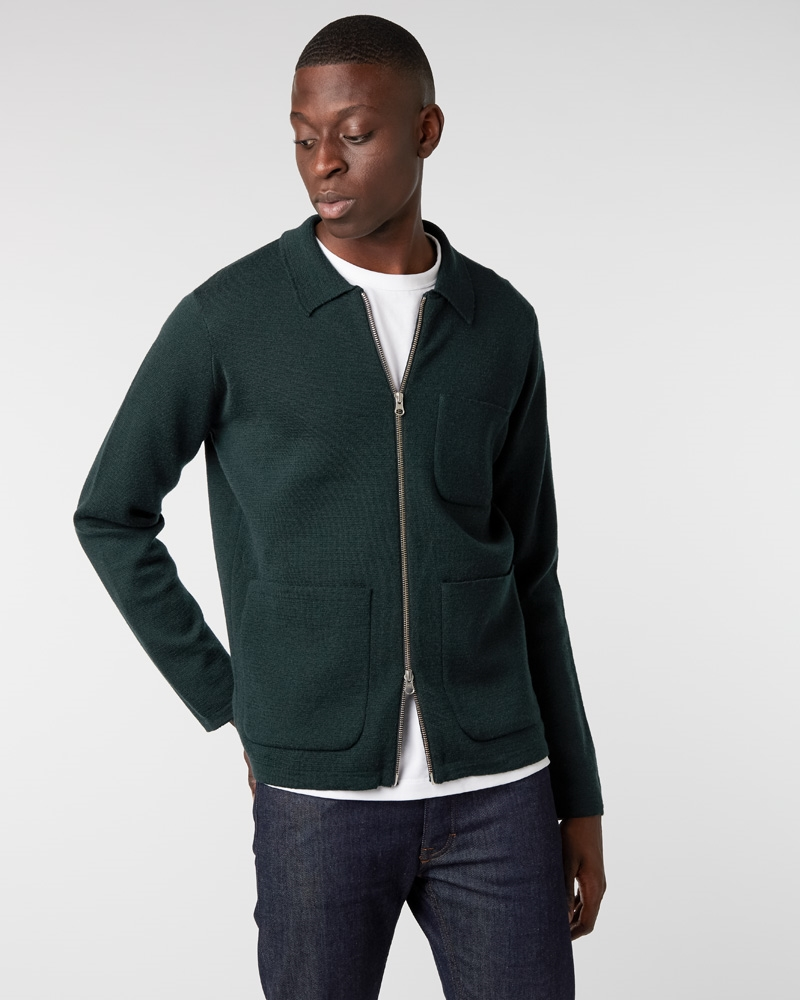 pepus-full-zip-up-polo-milano-knit-seaweed-green+denim2-raw2435-1