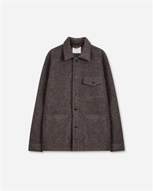 Patch Pocket Overshirt - Heavy Wool