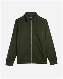 Zip Shirt - Herringbone Twill